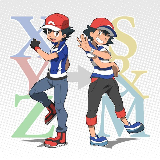 XYZ Ash and Sun & Moon Ash