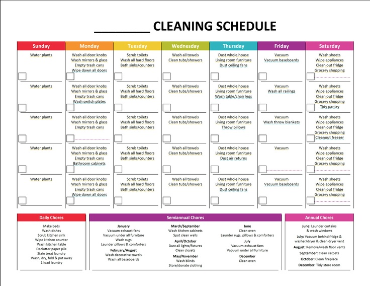 Complete housekeeping printable set cleaning schedules the o 39 jays and monthly cleaning schedule - House cleaninghour guide ...