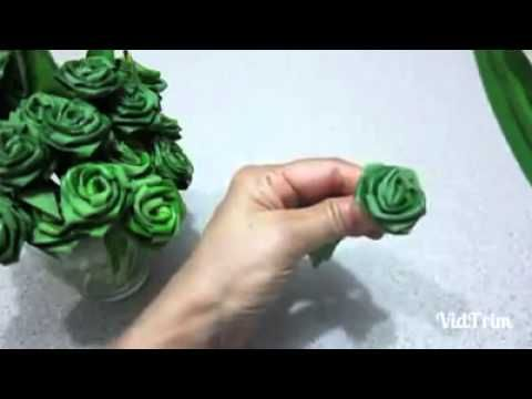 Rose pandan - YouTube - Palm Sunday is right around the corner. Need to try this.