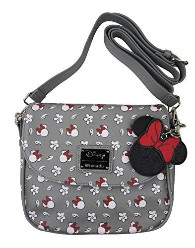 5c794627a643 New Loungefly Minnie Mouse Gray Print Crossbody Purse. Women Bag    64 findanew