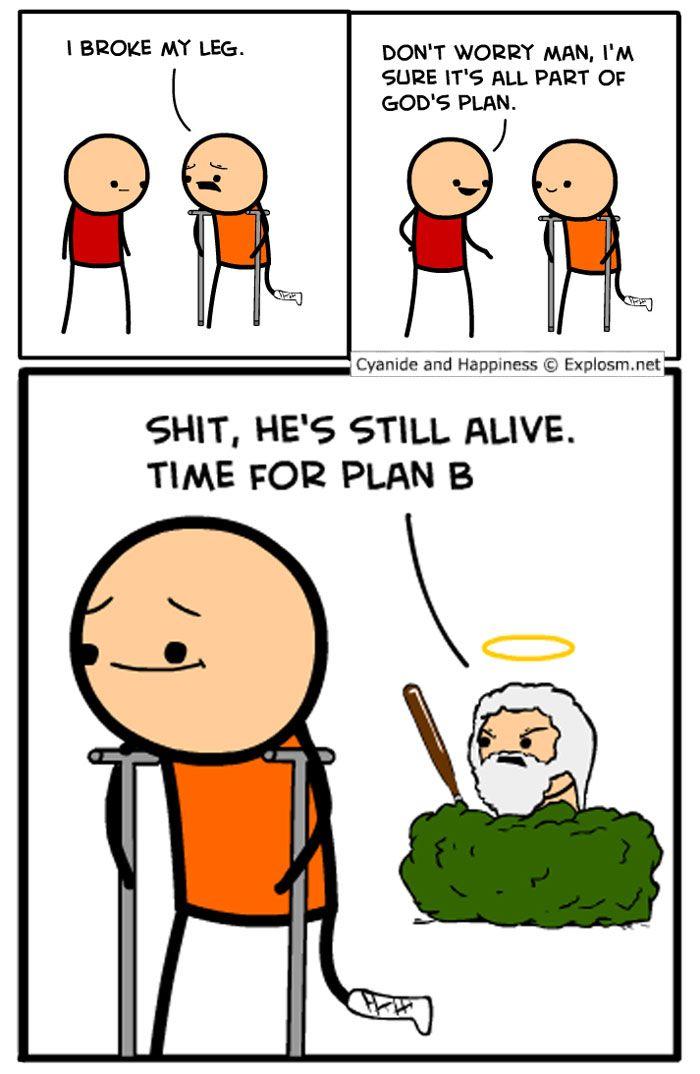 jokes happiness funny cyanide cartoons