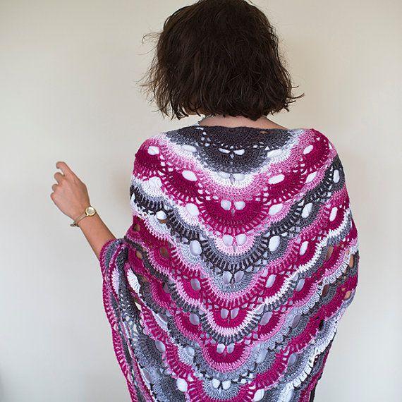 Crochet Shawl ,Crochet Scarf , Lace Shawl, Knitted Shawl