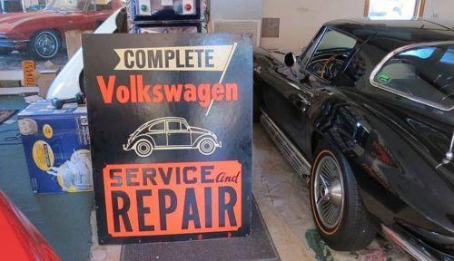 Old Volkswagen VW Dealership RARE Sign