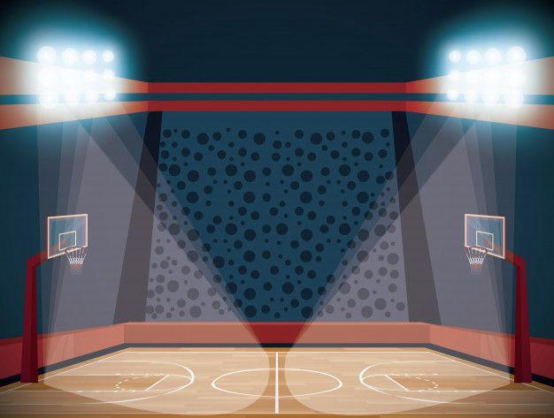 Basketball Court Stadium Scenery Cartoon Free Vector Freepik Freevector Sport Cartoon Fitn Channel Poster Sports Icon Instagram Highlight Vector Free Basketball wallpapers court hd desktop