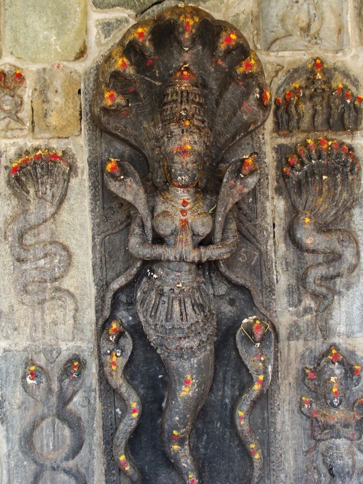 Snake goddess, Halebidu Temple, Karnataka, India