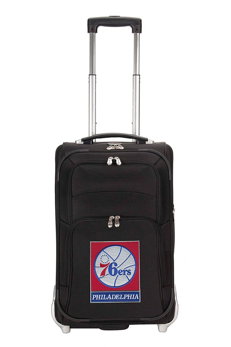 NBA Philadelphia 76ers Denco 21-Inch Carry On Luggage, Black *** Click image for more details. (This is an Amazon Affiliate link and I receive a commission for the sales)