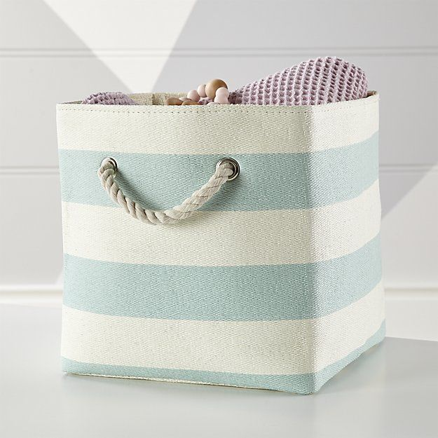 Stripes Around The Cube Bin Crate And Barrel D2o Sb