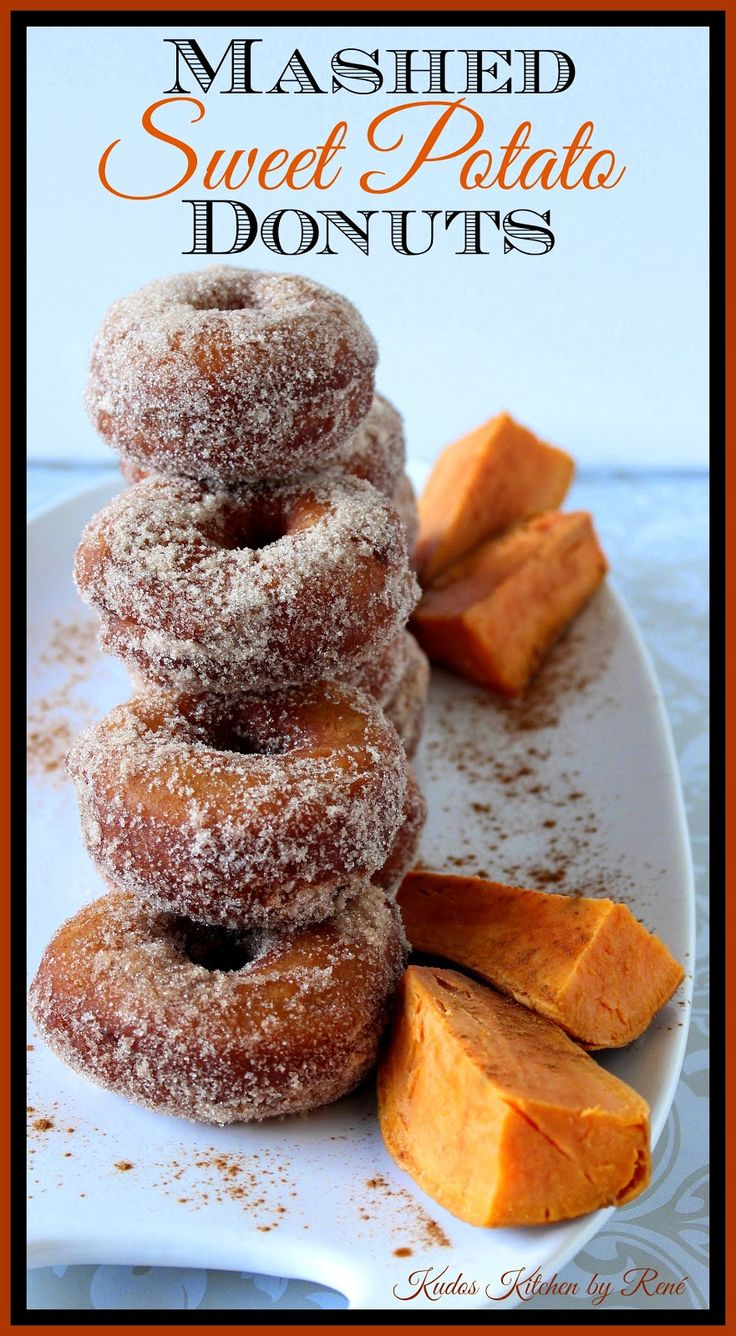 Mashed Sweet Potato Donuts are super delicious and take advantage of leftover sweet potatoes.