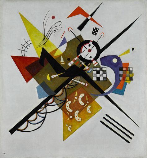 Auf Weiss II (En blanco II). Vassily Kandinsky, 1923. Óleo sobre lienzo. 105 x 98 cm. Colección Centro Pompidou, Museo nacional de arte moderno, París. Donación de Nina Kandinsky en 1976. © Vassily Kandinsky, VEGAP, Madrid, 2015
