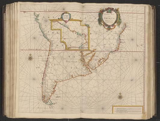 Page 22 from Zee-atlas; Colom, Arnold 1656?  Albert and Shirley Small Special Collections Library, University of Virginia.  http://search.lib.virginia.edu/catalog/uva-lib:2287415/view#openLayer/uva-lib:2380023/6447/8508/2/1/0