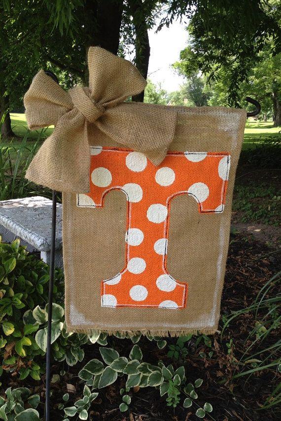 Tennessee Vols Burlap Garden Flag by WORLEYdesigns on Etsy, $18.00