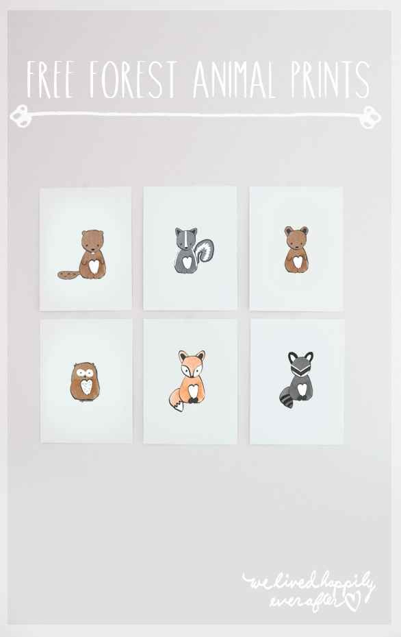 These foxy prints are perfect for future animal lovers: free printable