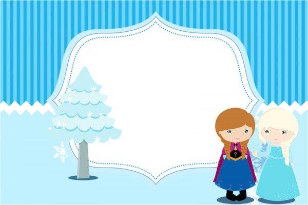 Lindo kit para festa infantil com várias moldes para lembrancinhas com o tema Frozen, convites e rótulos gratuitos