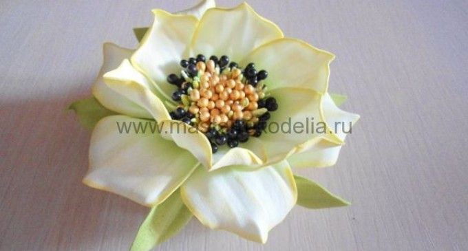 Цветок «ЛиЛи» из фоамирана, мастер-класс Светланы Поповой
