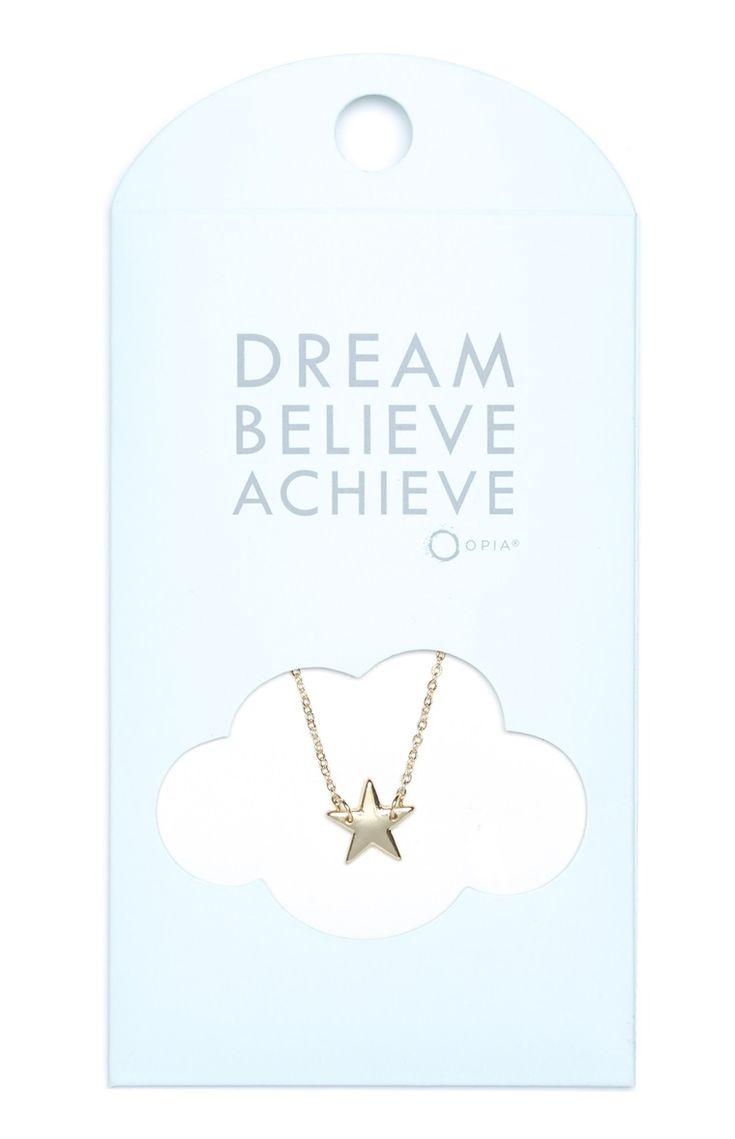 Primark - Colar pendente Dream Believe Achieve