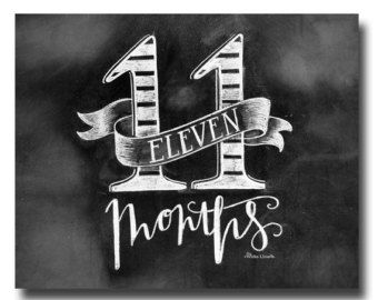 Baby Milestone One Month Old One Month Baby Months by TheWhiteLime