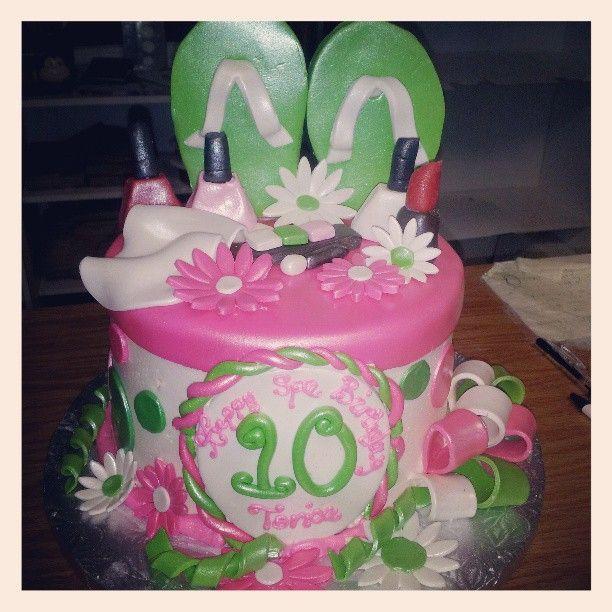 Best Savannahs Spa Party Ideas Images On Pinterest Birthday - Spa birthday party cake