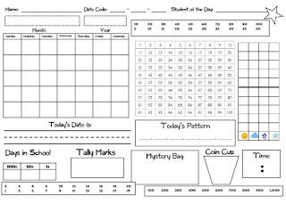LOVE THIS - slip into a whiteboard sleeve, makes Saxon math calendar time much more interactive for the kids! Definitely using this ASAP!