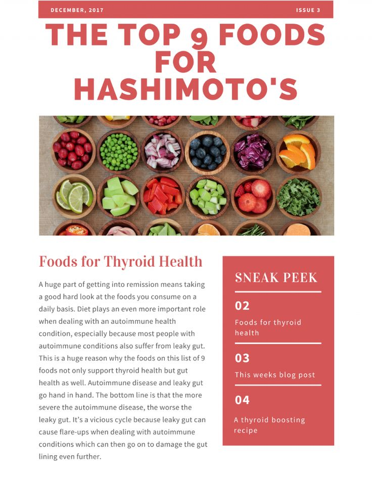 The Best Diet For Hashimoto's Thyroiditis