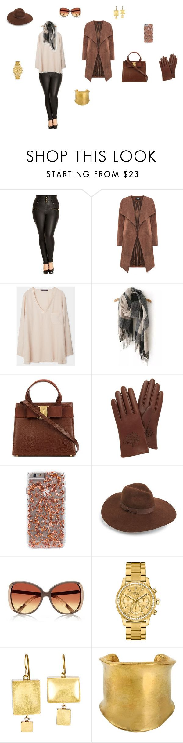 """""""Big City Look"""" by stylemeetsprofile on Polyvore featuring Mode, City Chic, Violeta by Mango, Mulberry, Lack of Color, River Island, Lacoste, Judy Geib, Emilio Pucci und women's clothing"""