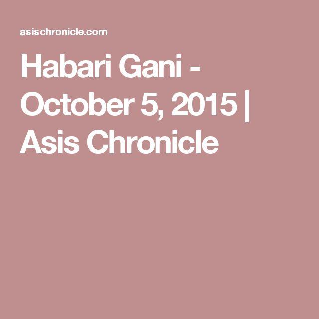 Habari Gani - October 5, 2015 | Asis Chronicle
