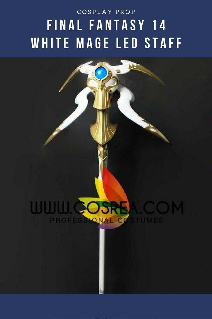 Final Fantasy 14 White Mage LED Staff Cosplay Prop