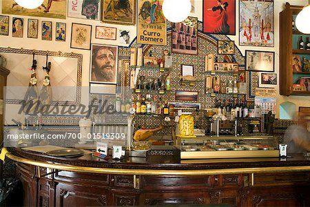 Interior of Bar, Seville, Spain