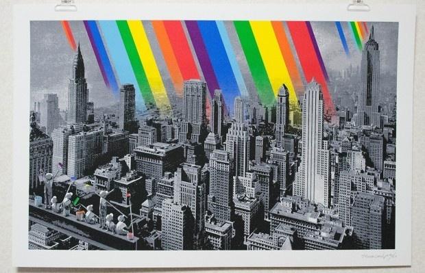 Roamcouch 'Rainbow Inc.' 15 Layer Silkscreen Print.