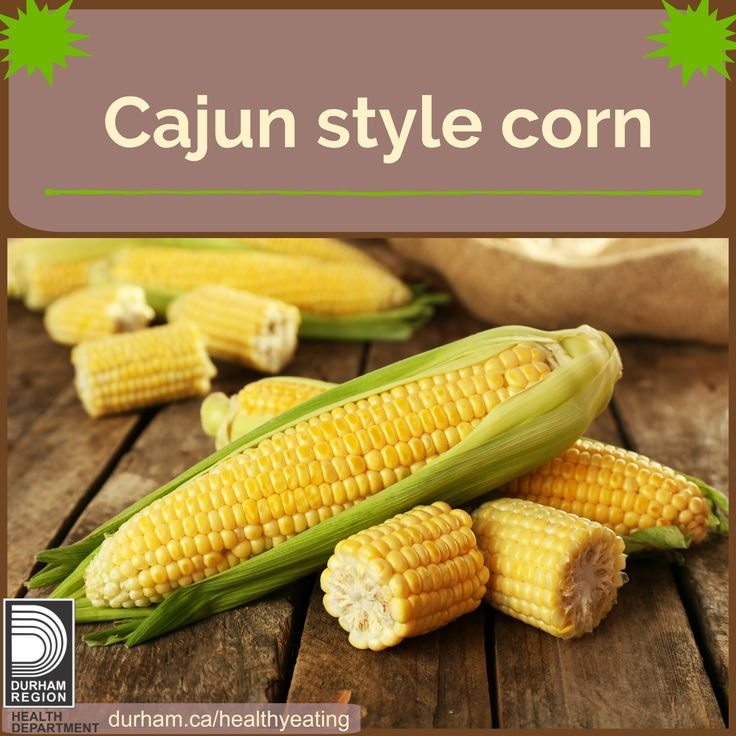 Corn is in season August and September in Durham Region. Why not try it Cajun style! Peel 4 ears of corn and wrap each in plastic wrap. Microwave on high for 5 minutes. Stir a ½ cup of melted non-hydrogenated margarine with 1/8 tsp of hot red pepper flakes. Unwrap corn and spread with margarine mix. Click for other quick recipe ideas!