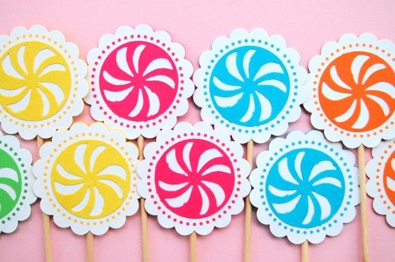 The Candy Land Collection  Custom Cupcake by maryhadalittleparty, $6.60