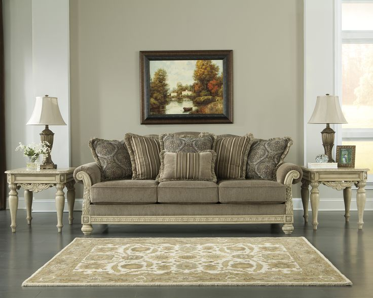 The Parkington Bay Platinum Living Room Set By Ashley Signature Available Now