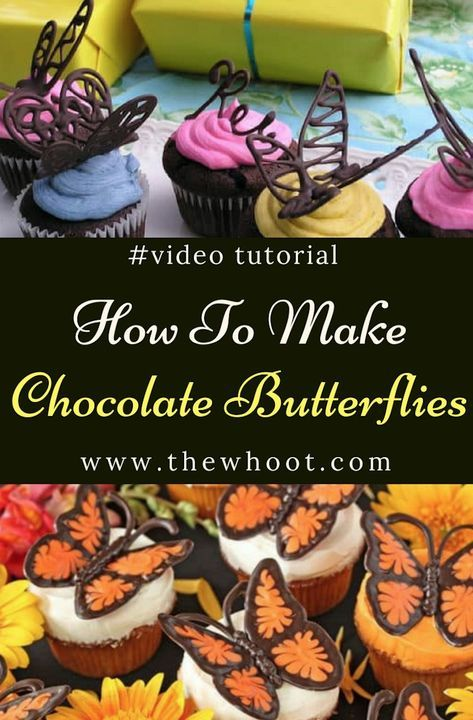 Chocolate Butterfly Cake Decorations Easy Video Tutorial Cooking