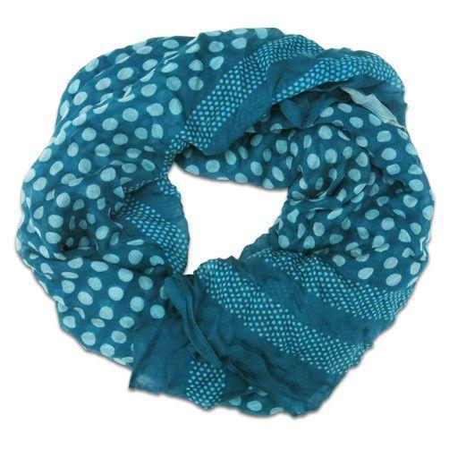 Silk Scarves Gumtree: Chan Luu Polka Dot Scarf - Teal