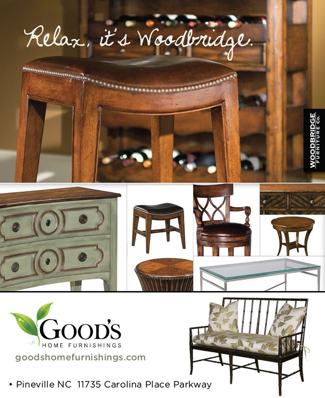 Visit us today at Good's Home Furnishings in Pineville NC for a great selection of Woodbridge Furniture.