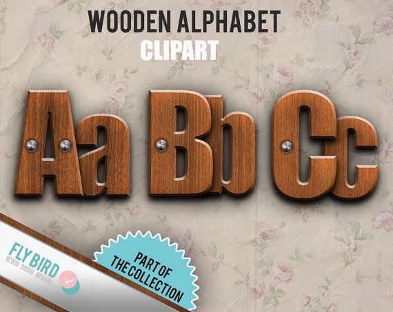 Alphabet letters   letter AZ and numbers  by FlyBirdBranding, €2.50