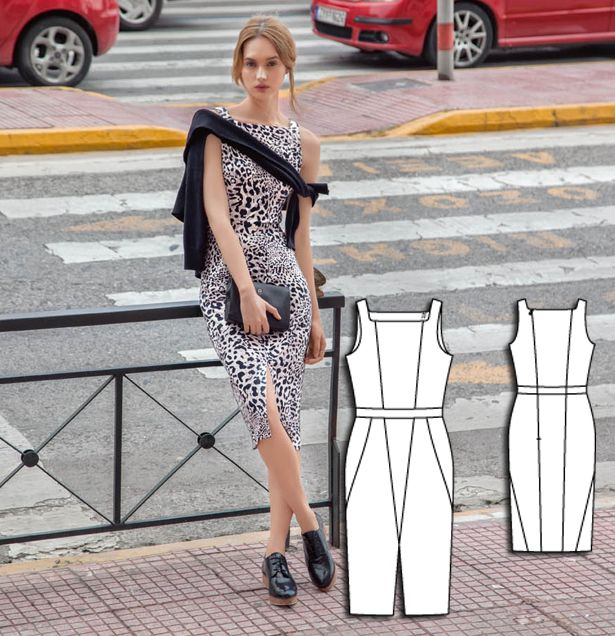 Sheath Dress 08/2015 #122A http://www.burdastyle.com/pattern_store/patterns/sheath-dress-082015?utm_source=burdastyle.com&utm_medium=referral&utm_campaign=bs-tta-bl-150720-CitySafariCollection122A