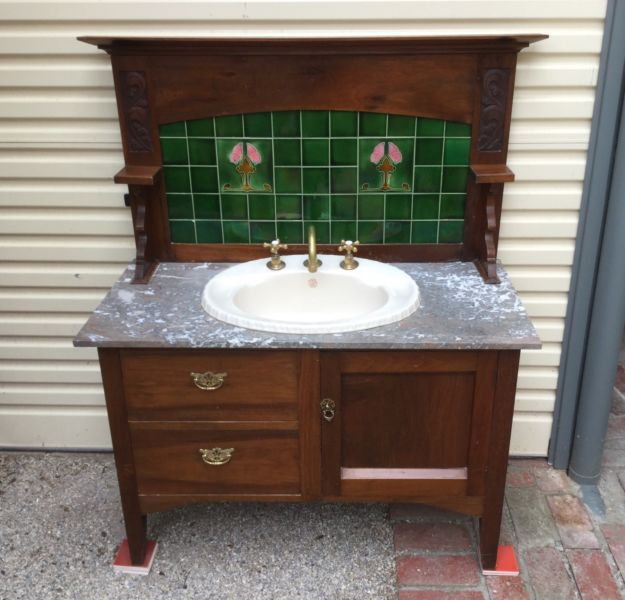 17 Best ideas about Antique Bathroom Vanities on Pinterest Dresser sink, Dresser vanity and ...