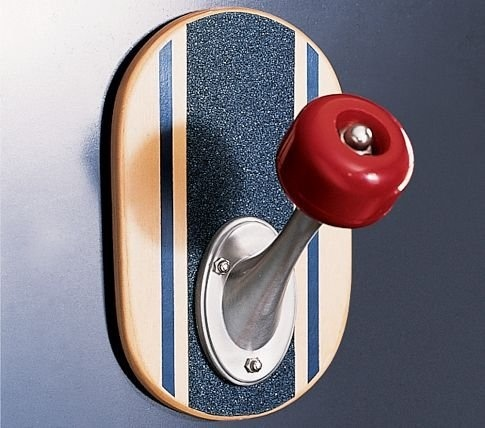 "[Gift Idea] With the streamlined shape of a real skateboard wheel, our skateboard peg turns storage into a fun display. Assembly required. Keyhole mount. 5 x 4.5 x 7"" h. Internet Only. Buy Now 