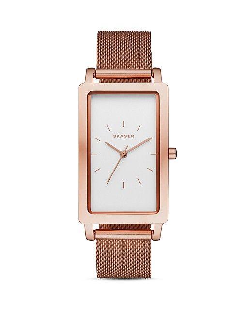 $Skagen Hagen Mesh Bracelet Watch, 22 x 43mm - Bloomingdale's
