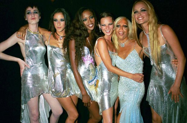 DONATELLA VERSACE, NAOMI CAMPBELL AND KATE MOSS 'Diamonds Are Forever' Millennium Celebration, Syon House, London, Britain - 09 Jun 1999