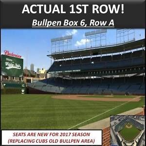 2 FRONT ROW Chicago Cubs v St. Louis Cardinals Tickets Bullpen Box 6! Friday 6/2   eBay