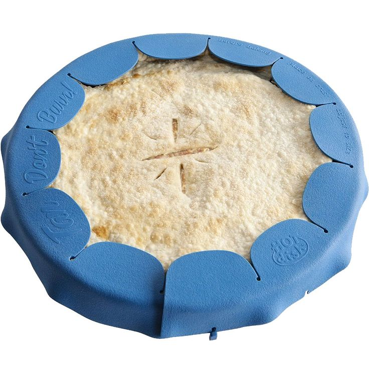 Get the perfect golden crust with this awesome pie crust shield! Prevent your pie crust from over-browning or burning while it bakes with this Silicone Pie Crust Shield.