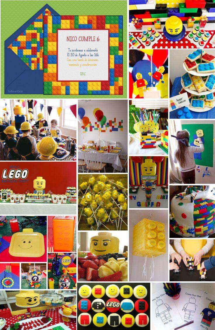 INVITACIONES DE CUMPLEAÑOS E IDEAS PARA CELEBRAR UNA FIESTA DE LEGO | La Belle Blog