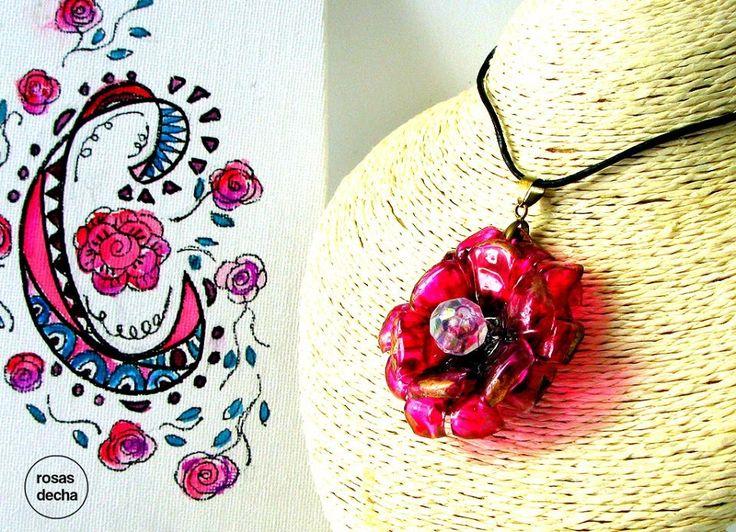 rosas de cha - #210 Eco Friendly Necklace, Artisan Pendant | Eco Colar