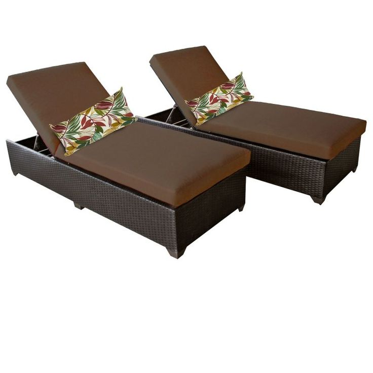 Miseno MPF-CLASC2X Traditions 2-Piece Aluminum Framed Outdoor Chaise Lounge Chai Cocoa Furniture Outdoor Furniture Outdoor Lounge Chairs