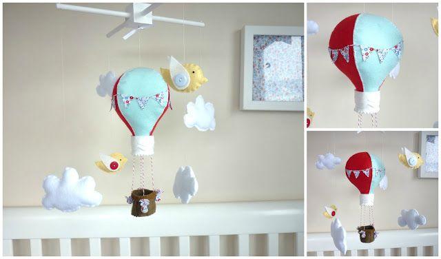 Maisie-Moo Handmade Felt Creations: Maisie Moo Hot Air Balloons