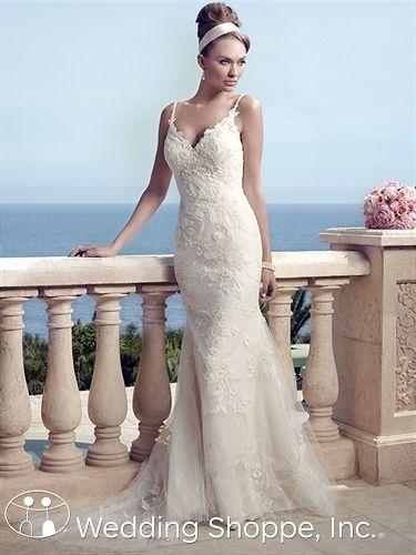 Casablanca Bridal Gown 2153  this shape, neckline, back
