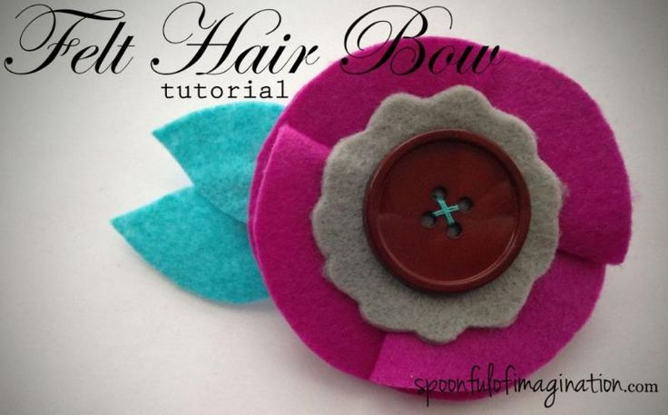 #DIY #tutorial - DIY felt hair clip