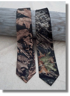 Camouflage Ties for the Groom and his Guys