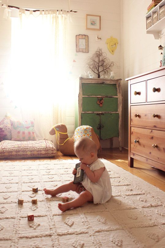 Eulalie's Playfully Bohemian Nursery NURSERY TOUR (Apartment Therapy) ... go to link for more visual goodness!